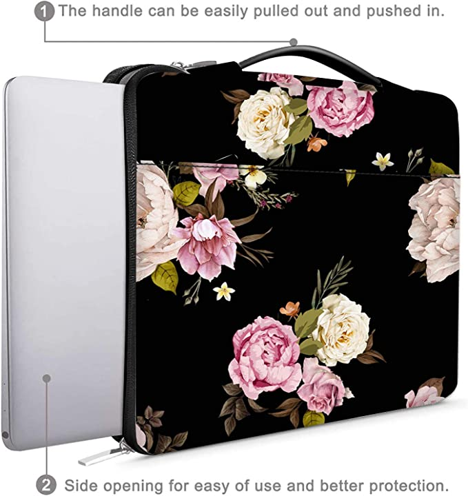 Buds and Blossoms of Pansy Cushion Protective Waterproof Laptop Case Bag Sleeve for Laptop AM033034 10 inch//10.1 inch C COABALLA Vintage Floral
