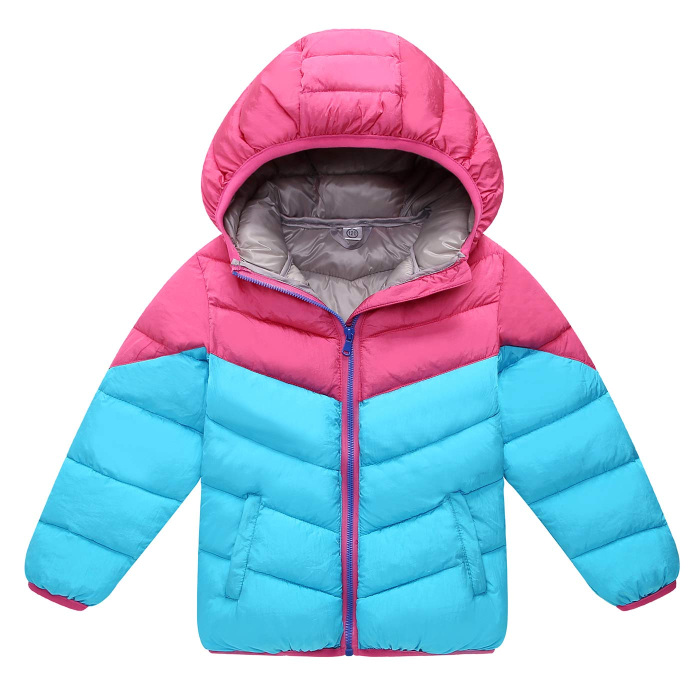 Aivtalk Boys Girls Winter Down Jacket Hooded Puffer Lightweight Coat Outerwear