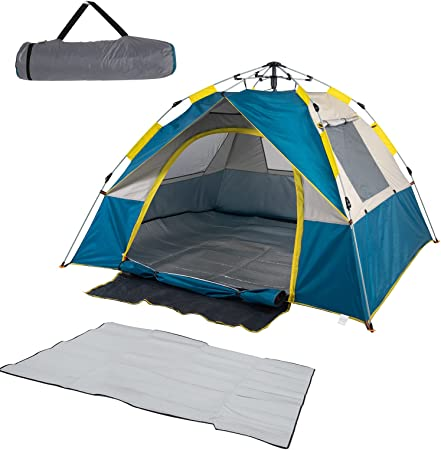 Pop Up Tent Camping Tent 4 Person Lightweight Instant Tent Easy Set Up Family Tent Weatherproof Tent for Camping Backpacking Hiking Mountaineering