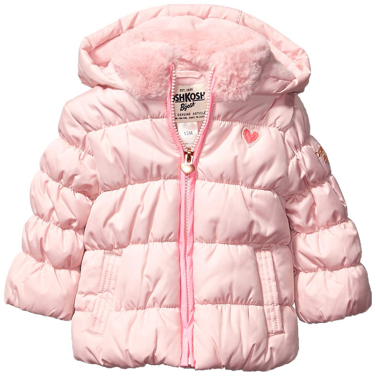 Osh Kosh Baby Girls Perfect Puffer Jacket, Sweet Pea Pink, 18Mo by OshKosh B'Gosh