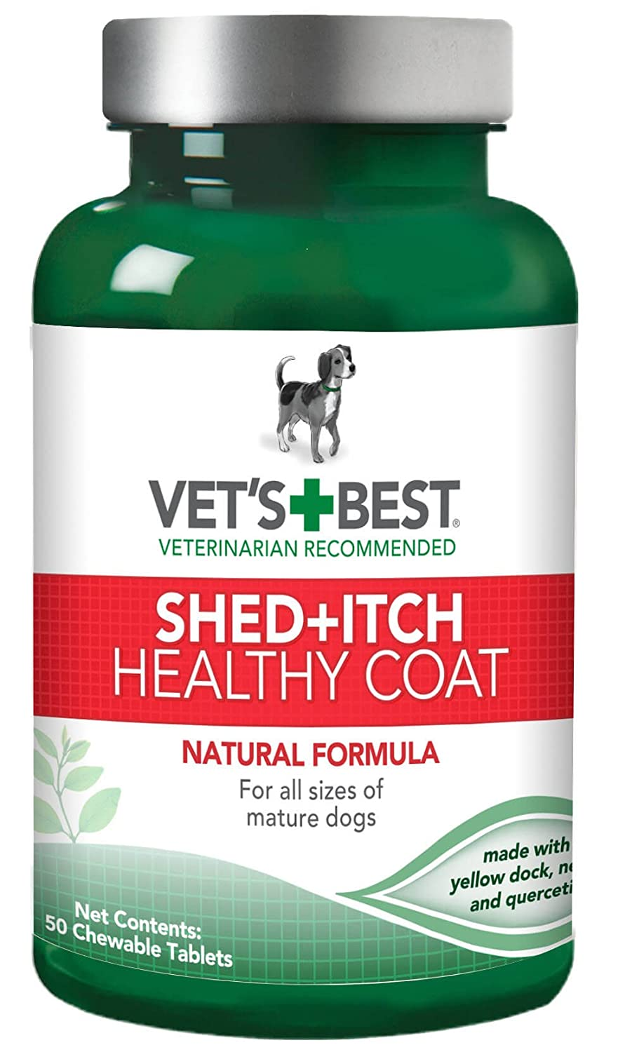 Vet's Best Healthy Coat Shed & Itch Relief Dog Supplements | Relieve Dogs Skin Irritation and Shedding Due to Seasonal Allergies or Dermatitis
