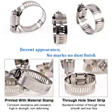 Glarks 20Pcs 304 Stainless Steel Adjustable 18-32MM Range Worm Gear Hose Clamps Assortment Kit, Fuel Line Clamp for Water Pipe, Plumbing, Automotive and Mechanical Application