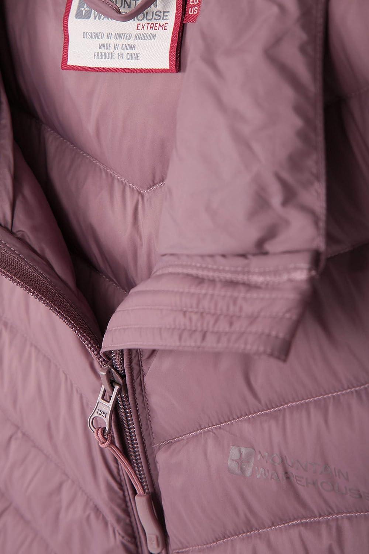 Mountain Warehouse Skyline hydrophobe Damen-Daunenjacke verstellbar Reisen /& t/äglichen Gebrauch Wasserabweisende Winterjacke f/ür Winter isolierte Pufferjacke
