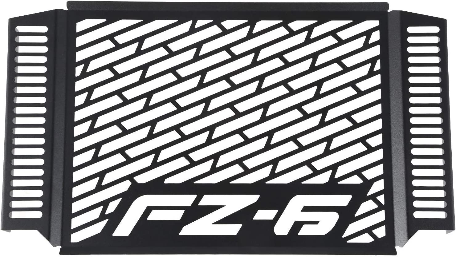 Semoic Motorcycle Radiator Guard Grille Protector Metal Cover Black for FZ6 FZ 6 FAZER 2007-2010 Models