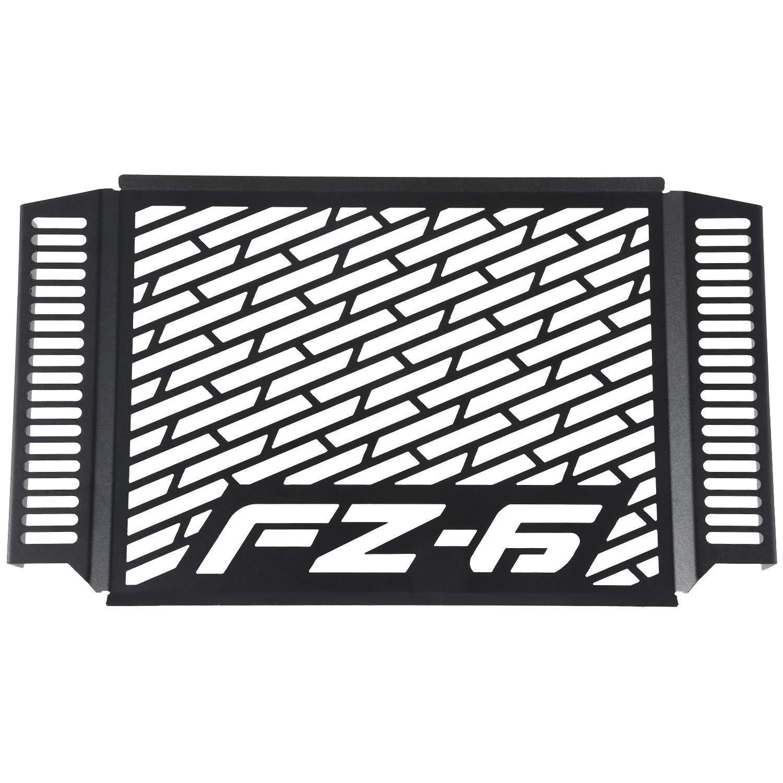 Nrpfell Protezione nel Metallo per Griglia di Protezione della Griglia del Radiatore Copertura nel Metallo Nero per Modelli FZ6 FZ 6 FAZER 2007-2010