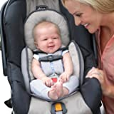 Chicco Infant Head Body Support Pillow Car Seat & Seat Protector Stroller Cushion – Ivory / Gray
