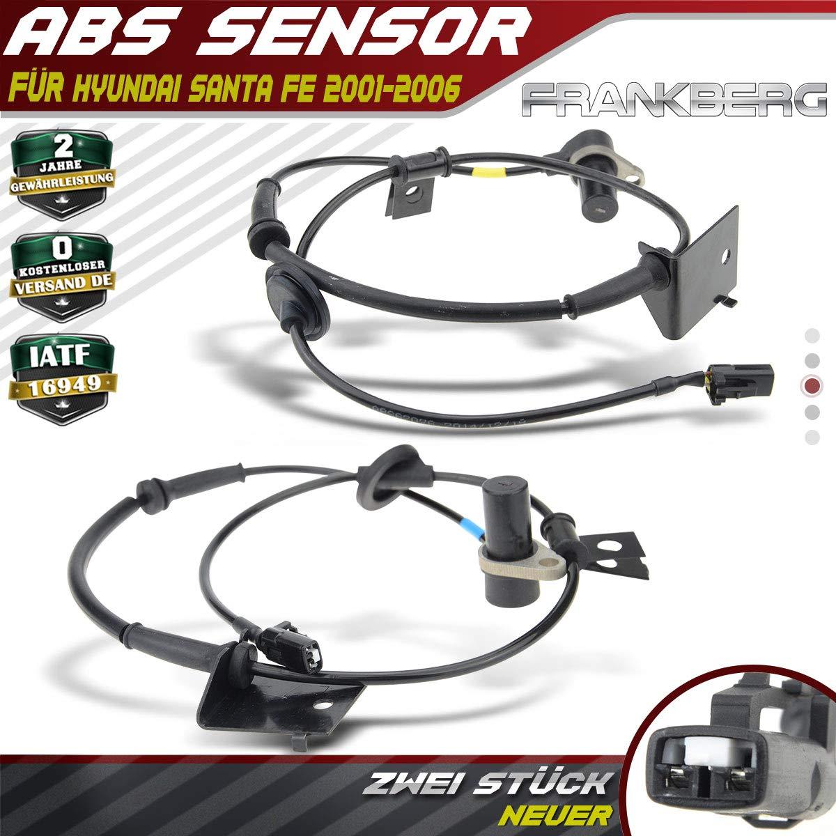 2x ABS Sensor für Hyundai Santa Fe SM 2001 2002 2006 SUV Vorne Links und Rechts