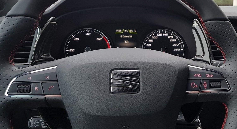 H-Customs DSG bascule Shift Paddle Extension Palettes de Commande fibre de verre Typ A per Seat Leon 5F auch Cupra//Rouge