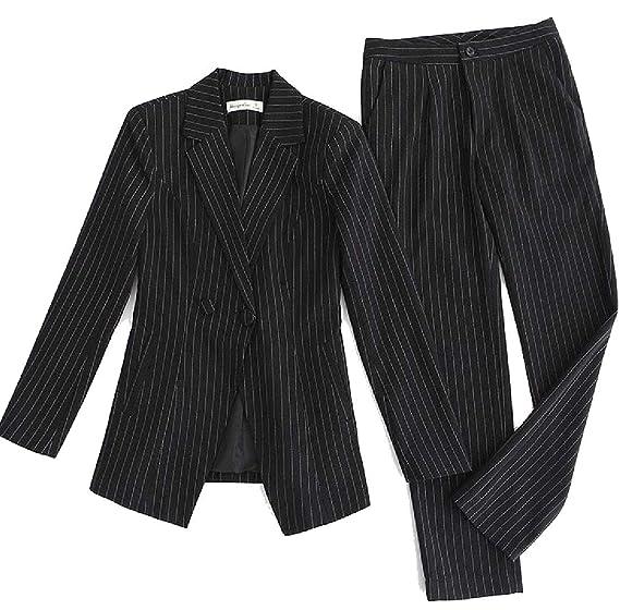 0bdf96f58682 Belie Women Long-Sleeved Stripe 2 Piece Set Hot Shorts Blazer 2 Piece  Beachwear Tracksuit