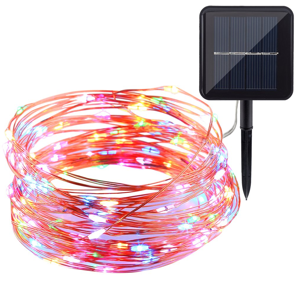 Copper String Lights Solar : GDEALER Solar String Lights 100LED 33ft Copper Wire Lights Waterproof Wire Rope eBay