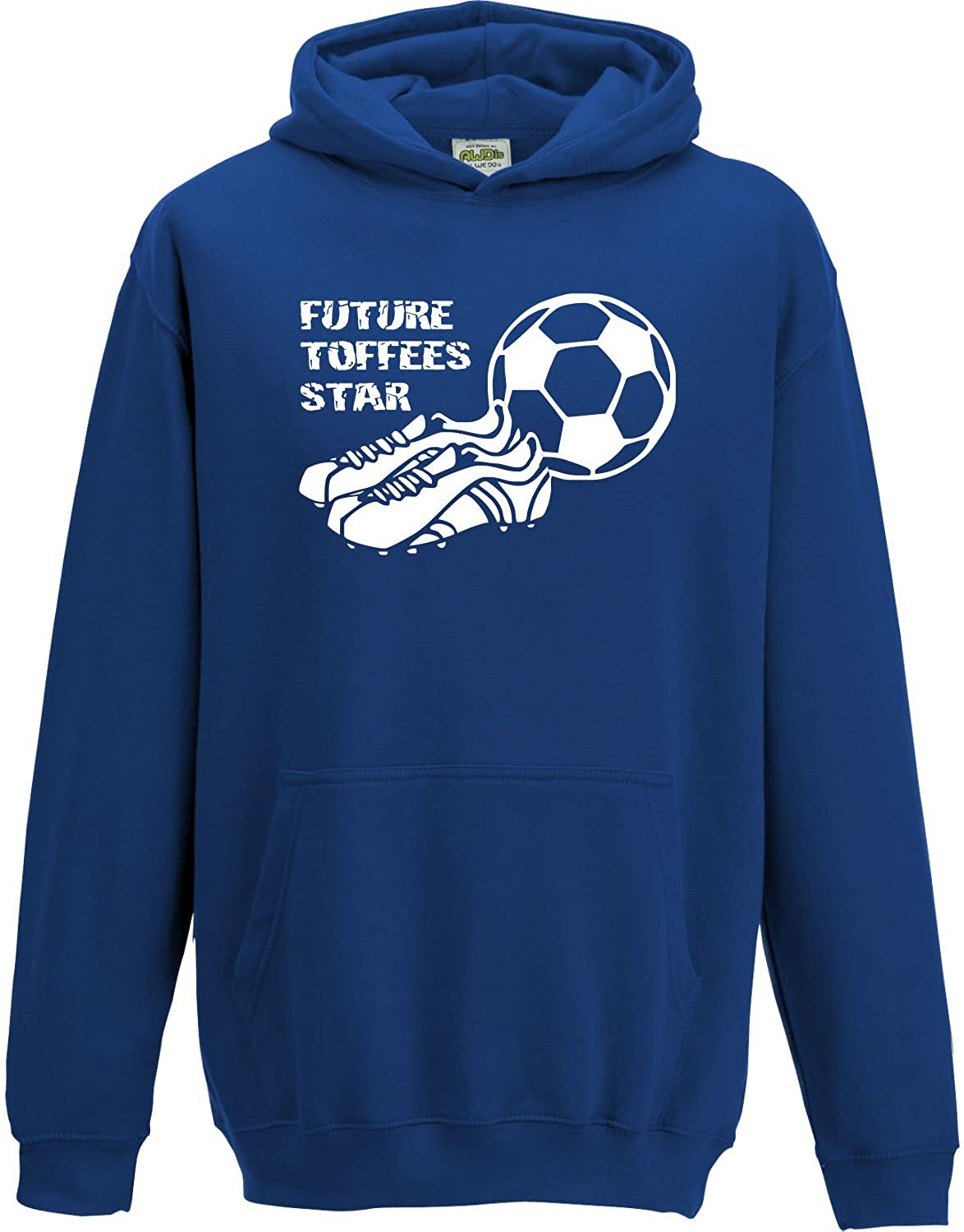 Hat-Trick Designs Everton Football Baby/Kids/Childrens Hoodie Sweatshirt-Royal Blue-Future Star-Unisex Gift