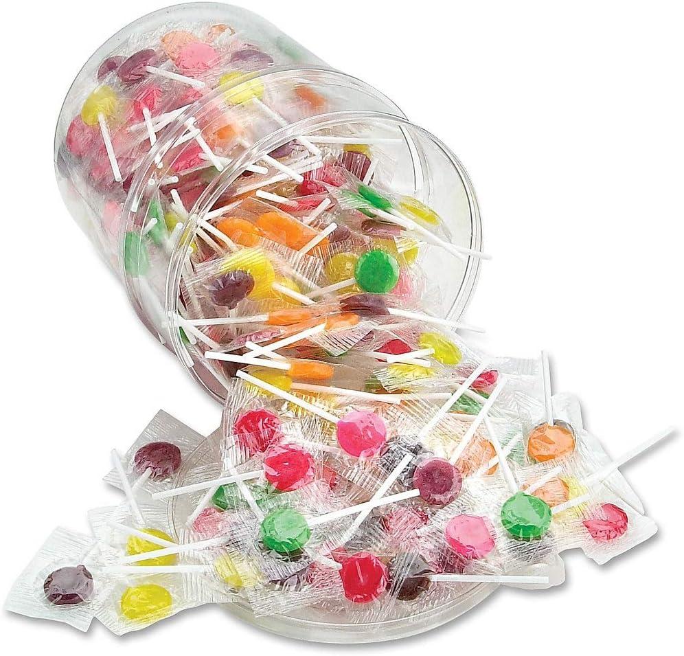 OFFICE SNAX, INC 68 Sugar-Free Suckers, Assorted Flavors, 32oz Tub