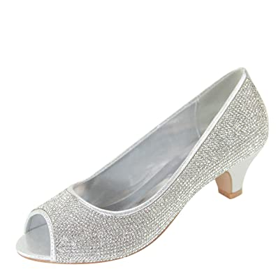 84910f0fa16 Amazon.com   Bella Marie Womens Peep Toe Jeweled Rhinestone Crystal ...