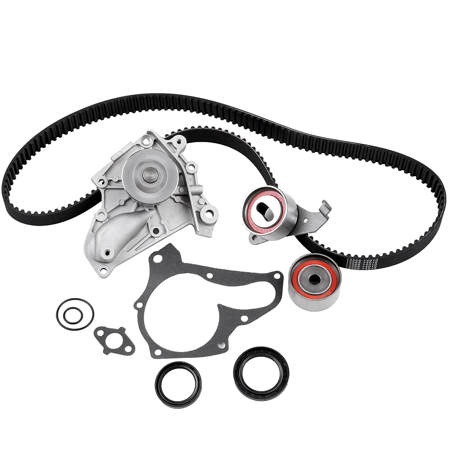 Timing Belt Water Pump Kit, ECCPP TBK138WP For 1987-2001 Toyota Camry Celica Solara 2.0L 2.2L Timing Belt Water Pump Tensioner 3SFE 5SFE TBK138GMB