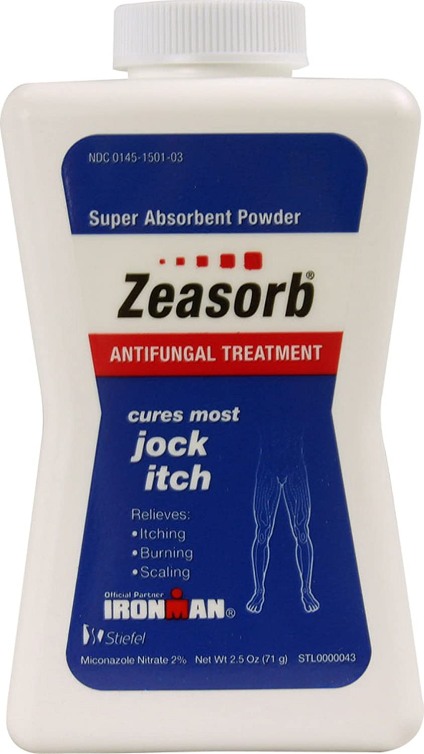 Zeasorb-AF Super Absorbent Antifungal Treatment Powder for Jock Itch 2.5 oz (Pack of 3): Health & Personal Care