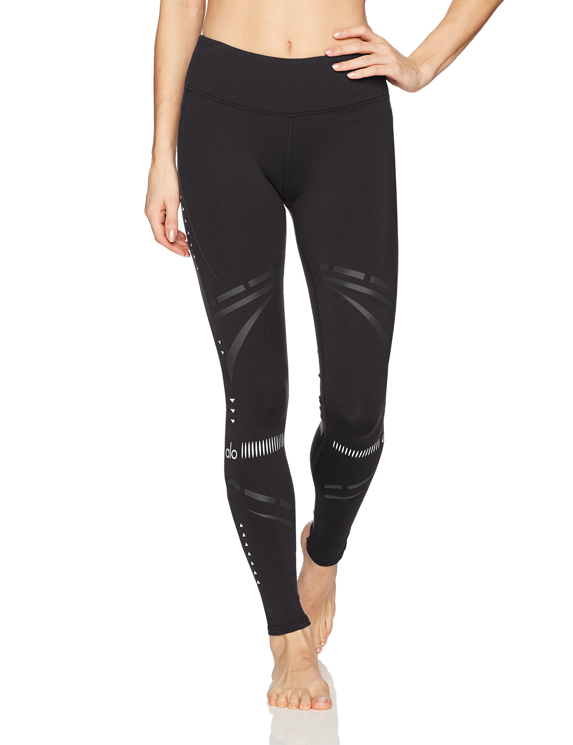 Alo Yoga Women's Airbrush Legging-Chakra, Black/Black Chakra, XS