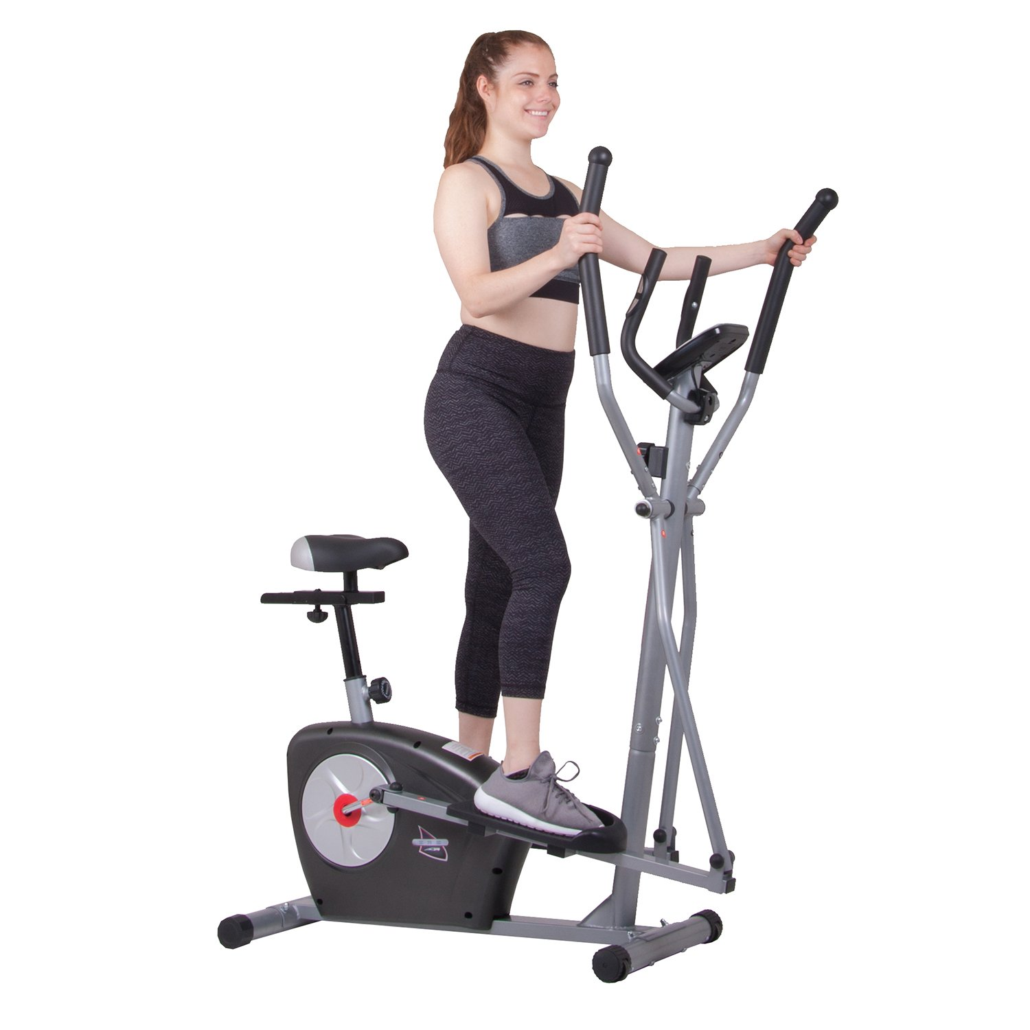 Elliptical Trainer and Exercise Bike with Seat and Heart Rate Pulse Sensors Dual Trainer BRM3635 Cardio Upper and Lower Full Body Workout Multi Trainer by Body Rider
