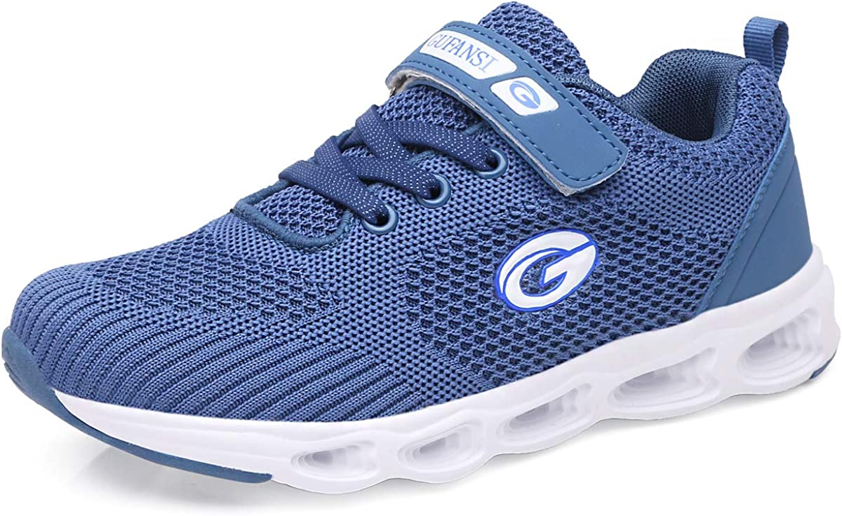 Kids Sneakers for Boys Size 12.5 UK Child Trainers Kids Basketball Tennis  Gymnastics Shoes Athletic Sport Fitness Shoes Casual Fashion Mesh Velcro  Lightweight Flat Unisex Junior Blue Outdoor Indoor: Amazon.co.uk: Shoes &