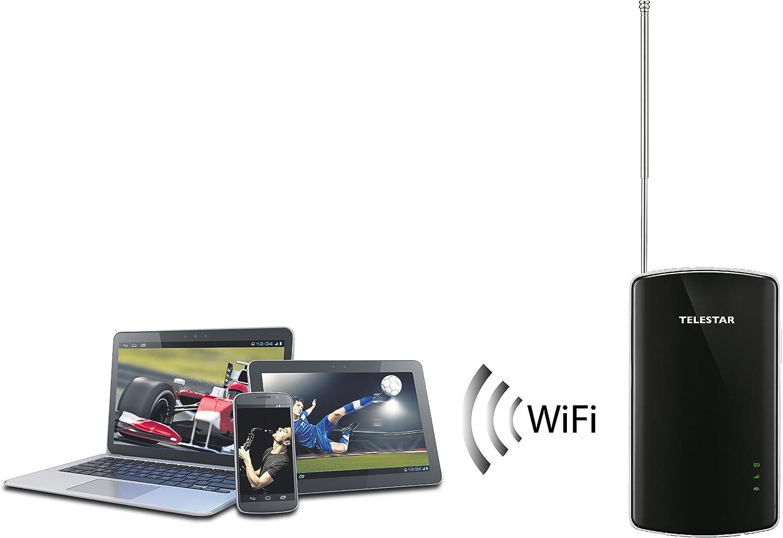 Telestar Digiporty T2 Mobile Terrestre Alta Definición Total Negro TV Set-Top Boxes - Reproductor/sintonizador (Terrestre, DMB-T,DVB-T2, 1080i,1080p, ...