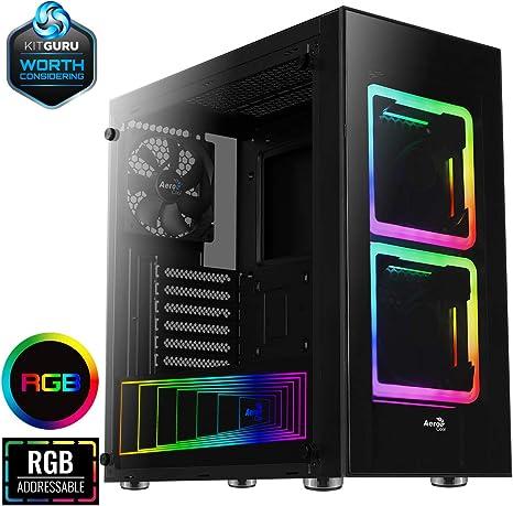 Aerocool TOR - Caja de ordenador, ATX, cristal templado, 2 ventiladores RGB 14cm: Aerocool: Amazon.es: Informática