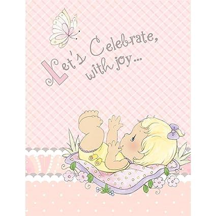 Amazon Com Precious Moments Baby Shower Invitations Baby Girl