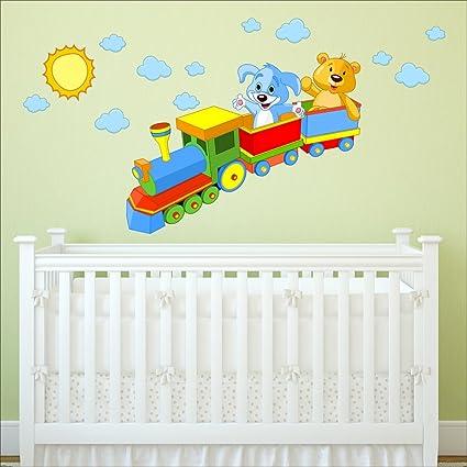 Adesivi Da Parete Per Bambini.Treno Toys Adesivi Da Parete Per Cameretta Dei Bambini