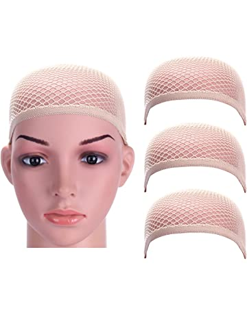 8442a9641422c Dreamlover 3 Pack Nude Wig Caps with Thick and Strong Nylon Thread