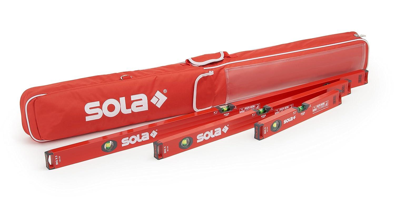 Wasserwaage 30cm /60cm /100cm | Sola Wasserwaage 3er Set | Inklusive Schutztasche mit Auß entaschen & Tragegriff | Wasserwaagen mit WFix Meterstab werkzeugwelten
