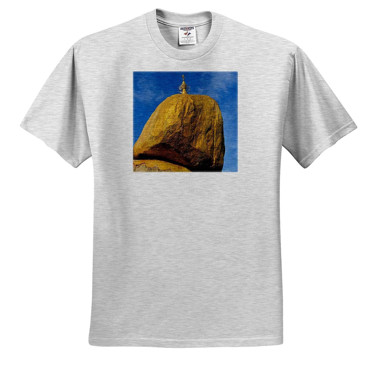 ts/_312590 3dRose Danita Delimont Kyaiktiyo Pagoda aka Gold Rock Mon State Myanmar Myanmar Adult T-Shirt XL