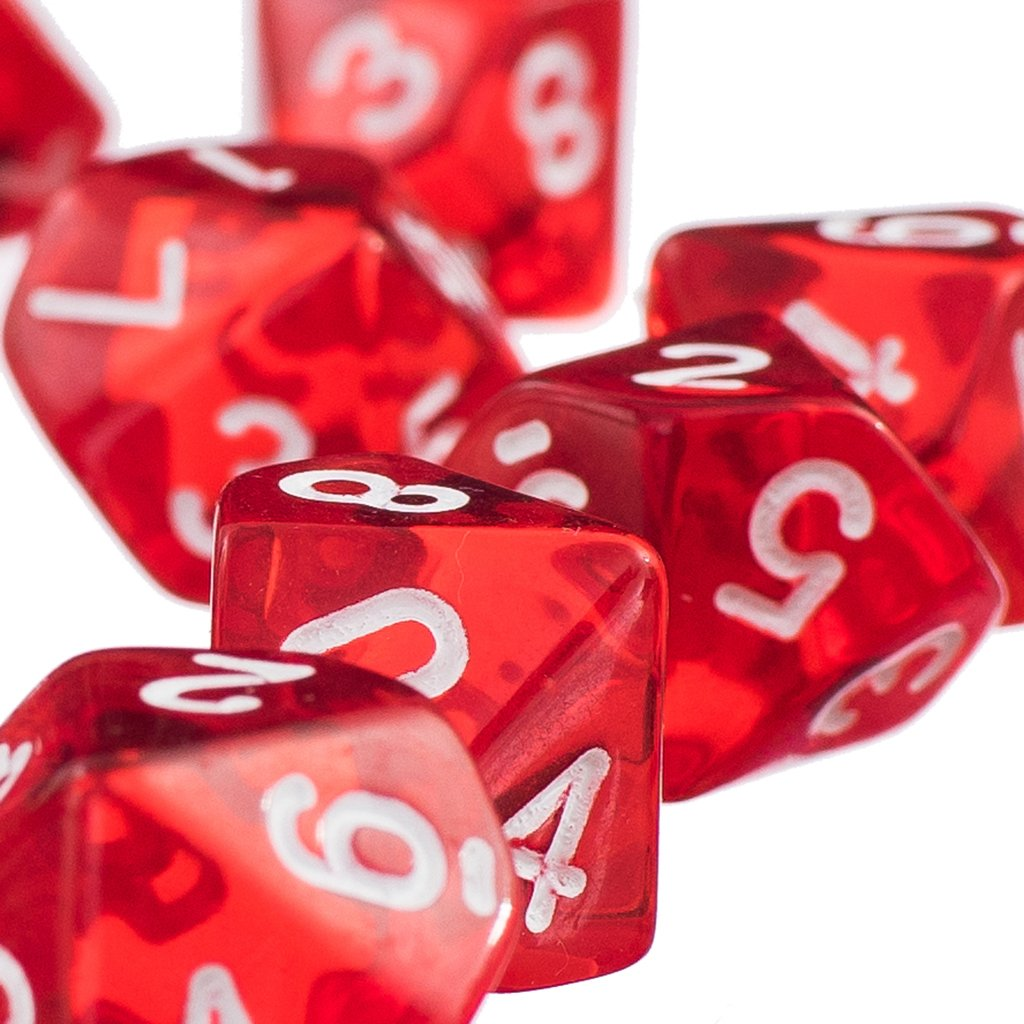 D10 Giallo Dieci Dadi Gemma Facce Per Dungeons RPG Dragons Giochi Set Di 10 Dadi