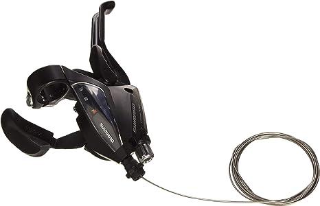 Shimano 5384 Rapid-Fire - Palanca de Cambios y Freno para Bicicleta (3 velocidades con indicador de Marcha), Color Negro: Amazon.es: Deportes y aire libre