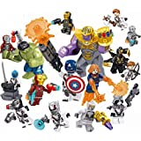 Heroes Set, 16 Pieces Minifigures, Heroes Fighting with Accessories, Building Blocks Action Figures Toy, Kids Gift 0332
