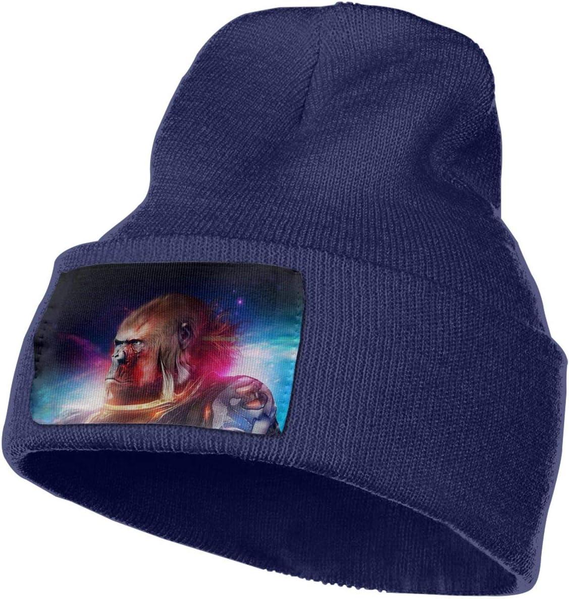 Space Gorilla Men/&Women Warm Winter Knit Plain Beanie Hat Skull Cap Acrylic Knit Cuff Hat