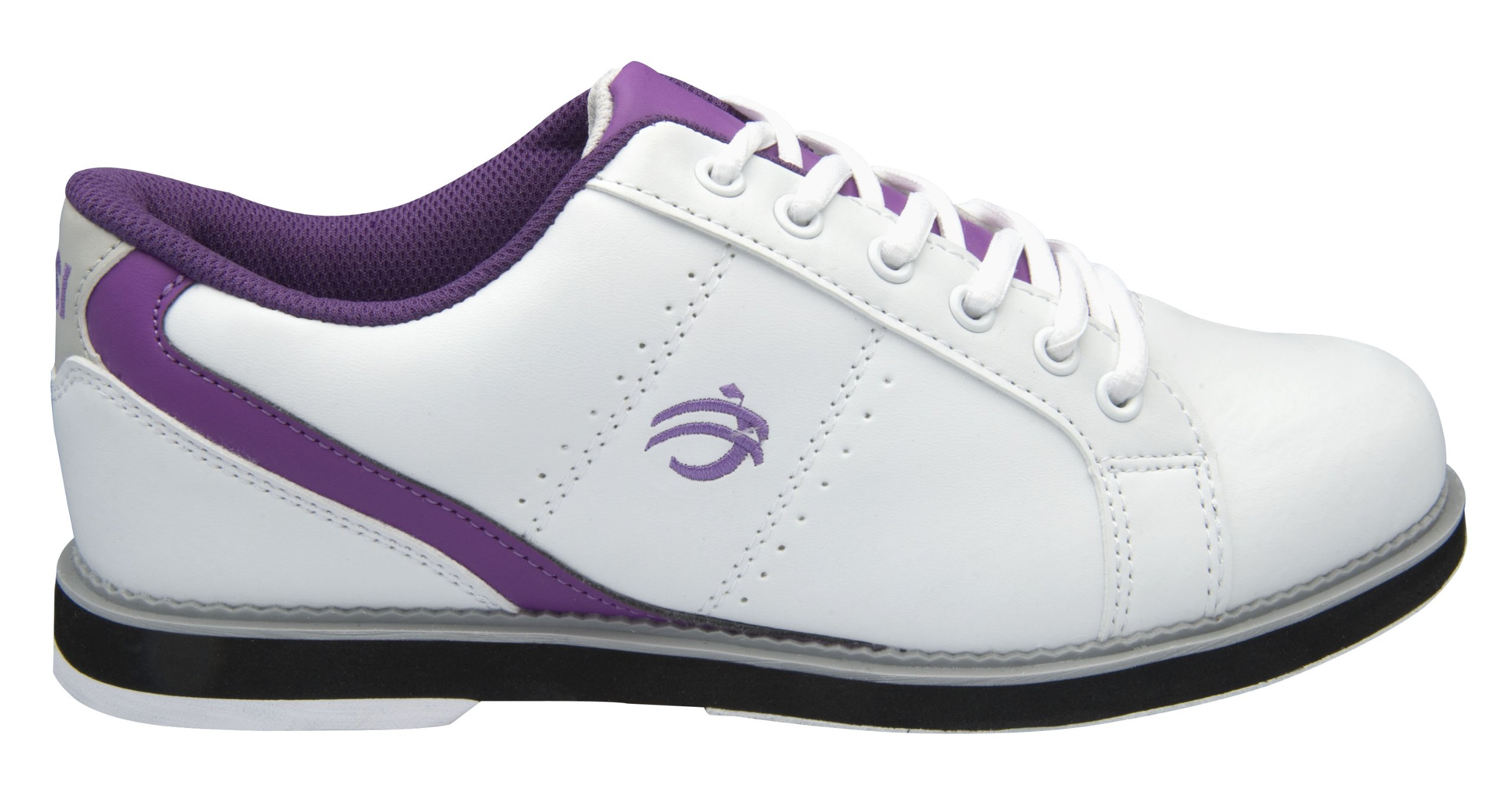 BSI Women's 460 Bowling Shoe, White/Purple, Size 7.5