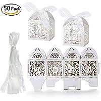 Cajas lazo de Organza boda cajas para dulces