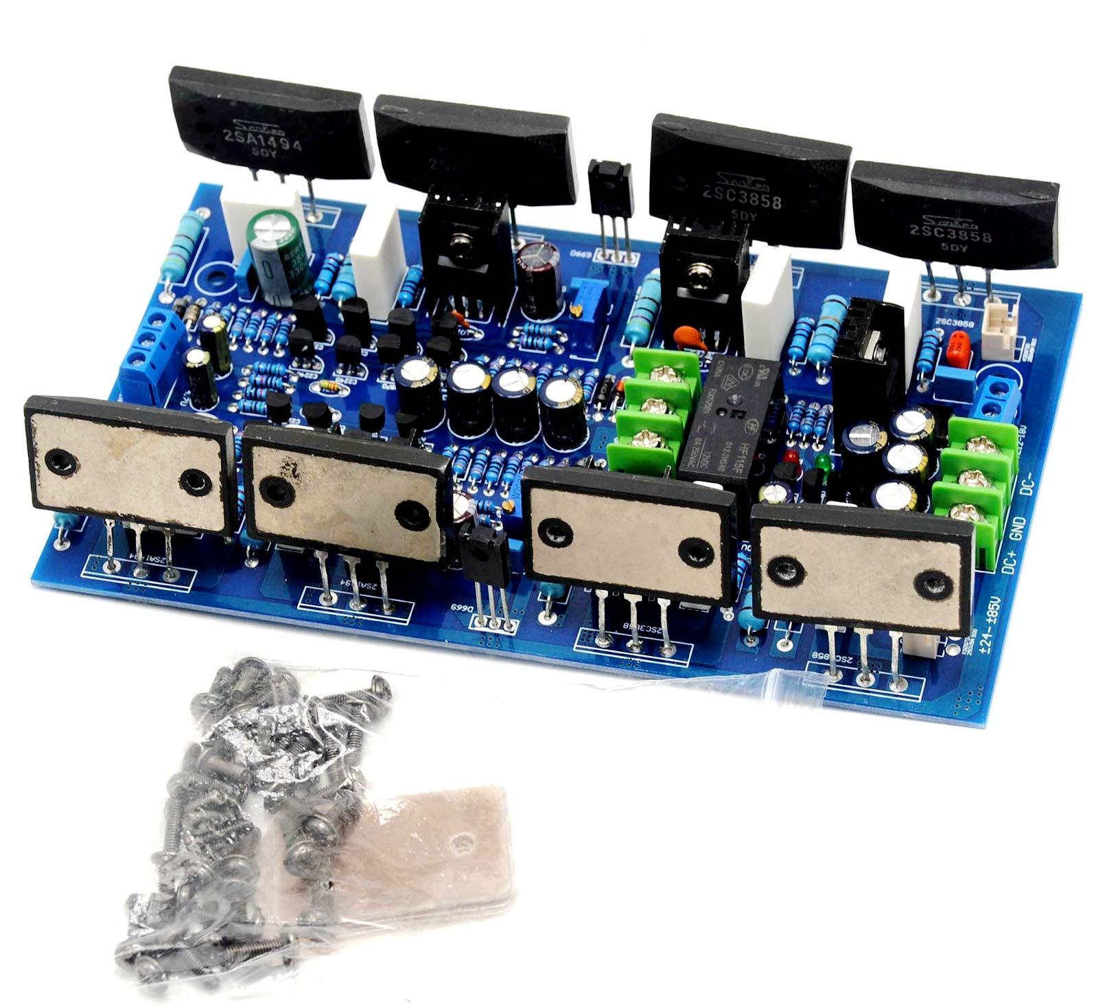 Dual 2SA1494 2SC3858 Stereo Amplifier Board 300w + 300w w/Speaker Protection
