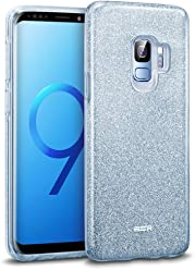 "ESR Case for Samsung Galaxy S9, Glitter Sparkle Bling Case Protective Cover [Three Layer] [Supports Wireless Charging] for Samsung Galaxy S9 5.8"" 2018 Released,Blue"