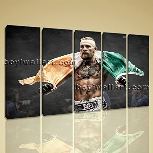 Large Conor Mcgregor Mma Sport Contemporary Canvas Print Wall Decor Dining  Room, Large Boxing Wall