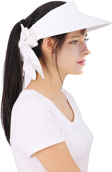 YoungLove Women's Wide Brim SPF 50+ UV Protection Sun Visor Hat
