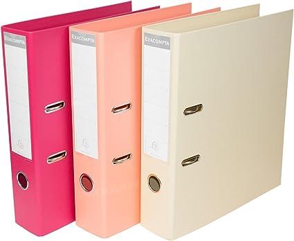 Pack de 3] color rosa/color rosa/arena A4 Archivadores De Palanca ...