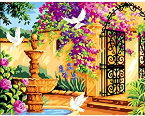 """DIY Paint by Numbers Kit for Adults - Perfect Garden 