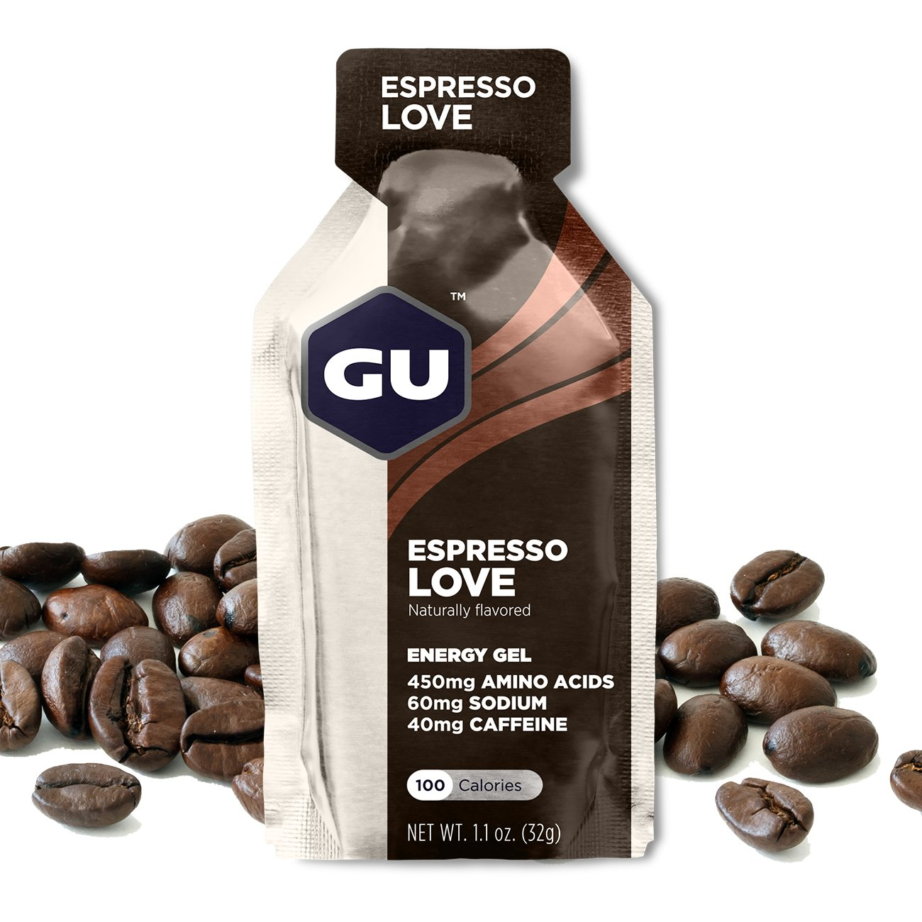 GU Energy Original Sports Nutrition Energy Gel, 24-Count, Espresso Love