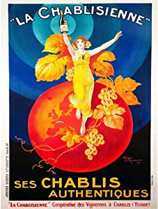 Wee Blue Coo Advert Chablis Wine France Artistic Vintage Unframed Wall Art Print Poster Home Decor Premium