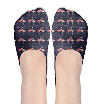 Flamingo Thing Women 100% Polyester-cotton Liner Socks Low Cut Ankle Boat Socks
