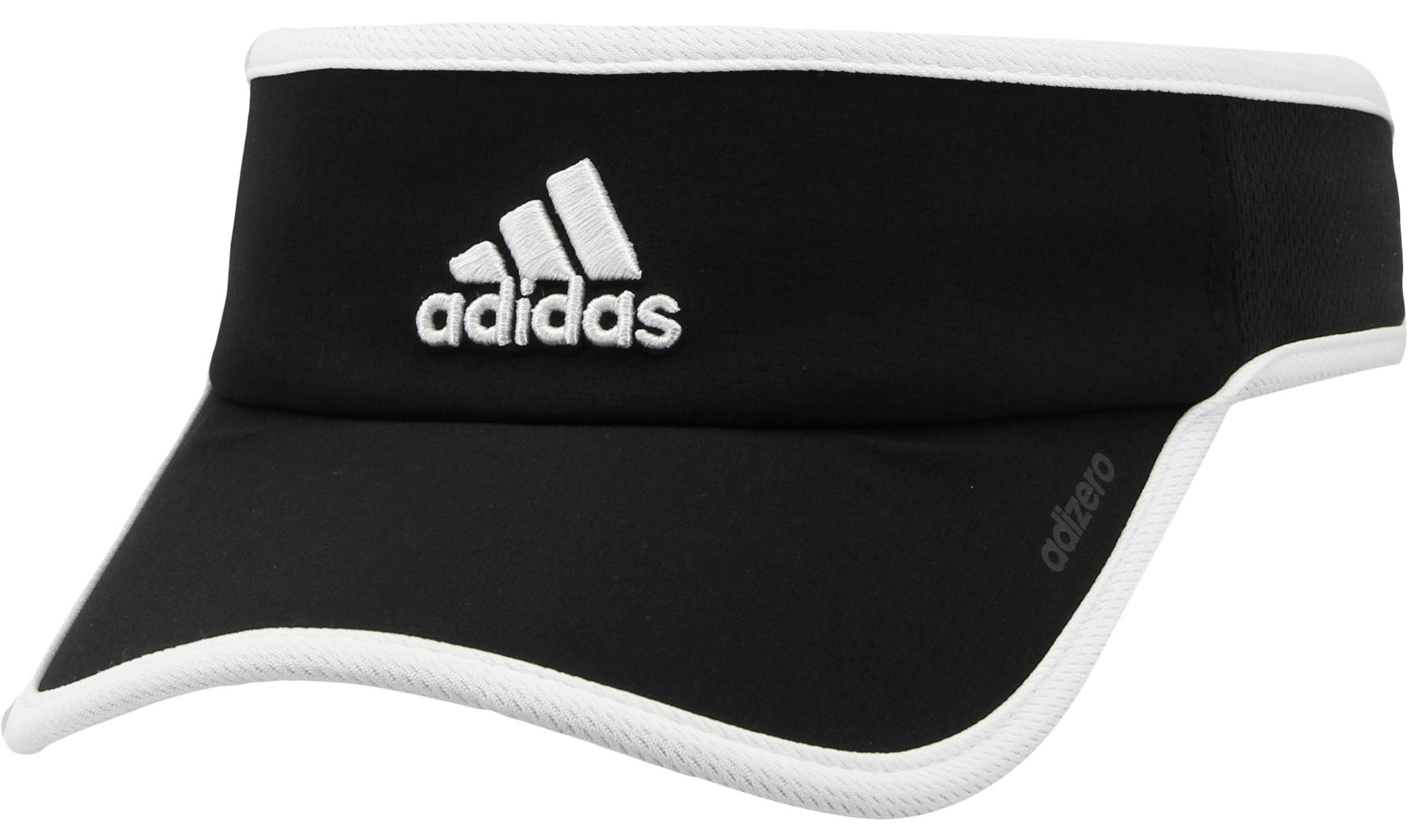 adidas Women's Adizero II Visor, Black/White, ONE SIZE by adidas