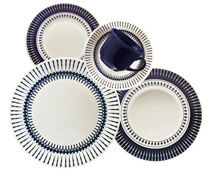 Oxford 20 Piece Biona Colb Dinnerware Place Setting, White - 7891361942008