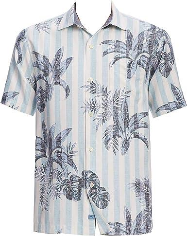 Tommy Bahama - Camisa de Seda para Hombre, diseño de Palmeras - Azul - Medium: Amazon.es: Ropa y accesorios