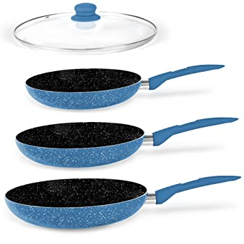 Stone Magic Set of 3 Stoneware Frying Pan