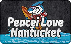 Makoroni - Peacei Love Nantucket Surfing Beach Des#1 Refrigerator Wall Magnet 2.75x3.5 inc