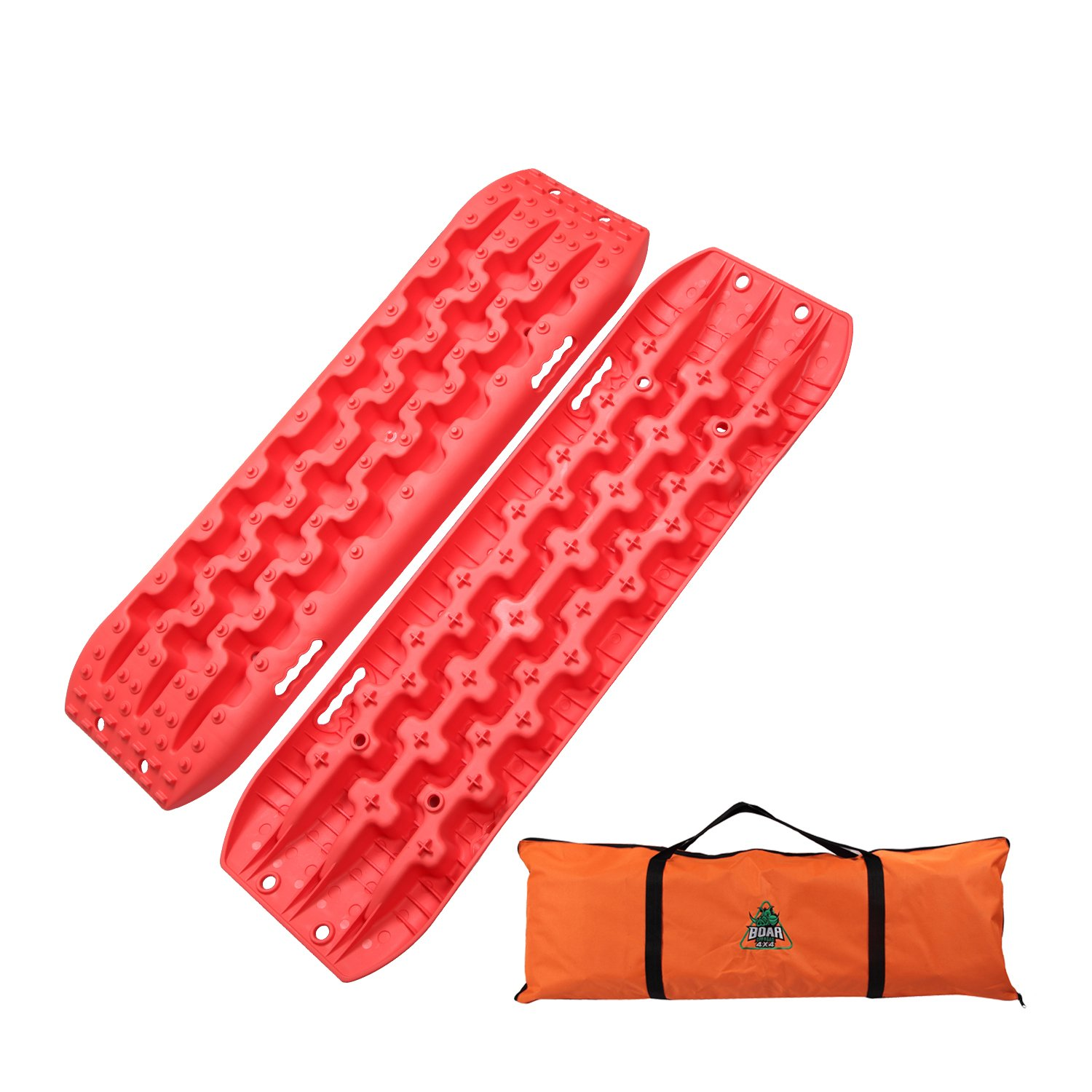 OFFROAD BOAR Recovey Tracks Sand Mud Snow Traction Boards(2Pack) (Orange)